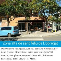 local de 740 metros en venta Sant Feliu Llobregat BARCELONA