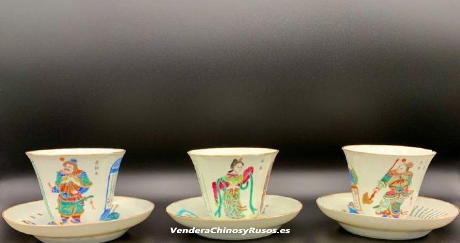 Vendo a chinos platillos, tazas de té de porcelana China